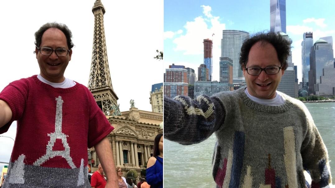 Dzierga swetry z miejsc, które odwiedził