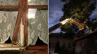 Podtopienia, połamane drzewa. Burzowe relacje Reporterów 24
