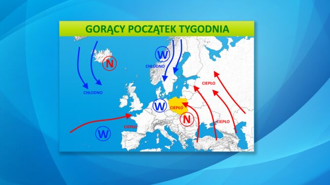 Do Polski dotrą gorące masy powietrza