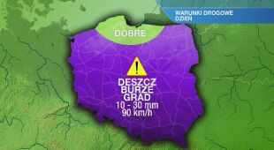 Warunki drogowe w poniedziałek 10.08